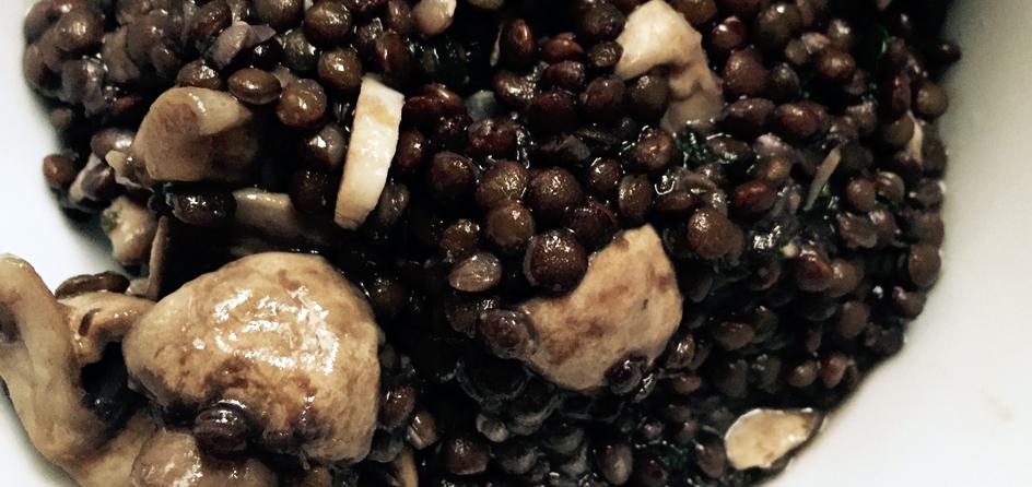 Lentil-Salad-with-Mushroom,-Lemon